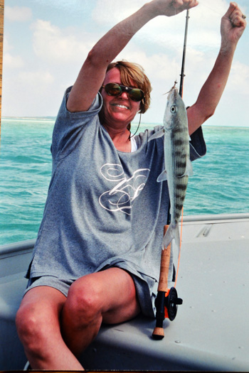 My wife Paulette with her first Bonefish